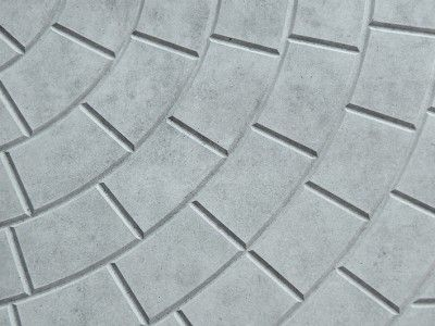 Gray structure of paving slabs.